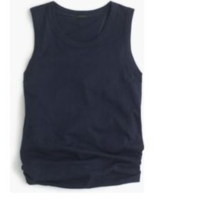 J. Crew Vintage cotton knot-back tank top